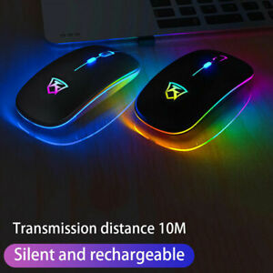 New LED Wireless Mouse Cordless Optical Mice For PC Laptop 2.4GHz Rechargeable