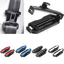 2x Adjustable Car Van Seat Belt Locking Stopper Auto Safety Clip Clamp Extender