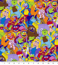Muppet Babies Colorful Packed Cotton Fabric  BTHY  18