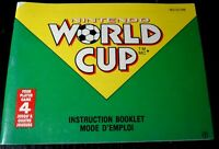 World Cup Soccer Nintendo NES Manual Instruction Booklet