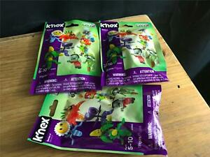 LOT OF 3 K'nex Series 6 Plants vs Zombies Sealed Blind Bag Mystery Figures