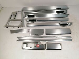 BMW 7er F01 LHD OEM Brushed Aluminium Interior Decor Trim Set 13 pieces 9155133