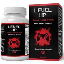 Gamer Supplement | Level Up - Upgraded Brain Focus Booster | Potent Nootropic...