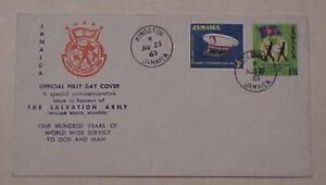 JAMAICA  SALVATION ARMY FDC 1965 CACHET UNADDRESSED