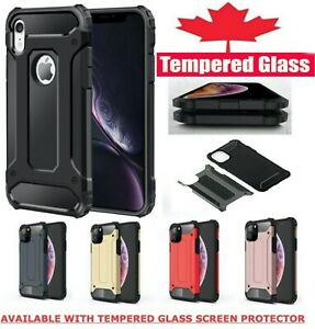 For iPhone 12 11 XR X XS Pro Max 7 8 SE Shockproof Armour Heavy Duty Cover Case