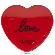 REVLON - RED 'LOVE' HEART SHAPED HANDBAG MAGNIFYING MIRROR - NEW/UNUSED
