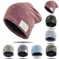 Unisex Beanie Hat Winter Knitted Crochet Slouchy Knit Baggy Ski Cap Women Men