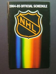 Official 1984-85 NATIONAL HOCKEY LEAGUE schedule NHL sked booklet Stanley Cup