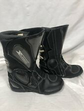 X Element Motorcycle Boots Mens 8 Black Durable