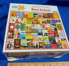 BEST SELLERS Jigsaw Puzzle 1000 pieces by White Mountain has vintage book covers