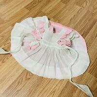 Vintage Sheer Party Girl 50s Gauze  Dress Circle Pinafore Baby Toddler