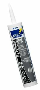 White Lightning W11000010 3006 Ultra All Purpose Elastomeric Sealant, White, ...