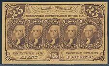 Fr1282-Sp 25¢ Obverse W/ S.E. Reverse W/O Monogram - Gem Cu - Fractional Bt729