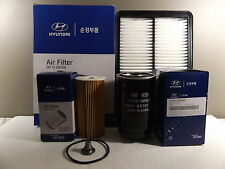GENUINE HYUNDAI SANTA FE SUV DM 2.2L CRDI DIESEL FILTER PACK OIL+AIR+FUEL FILTER