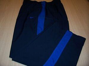 NIKE DRI-FIT BLUE W/BLUE STRIPE ATHLETIC PANTS MENS 2XL EXCELLENT CONDITION