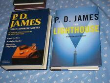 4 Adam Dalgliesh Novels P. D. JAMES in 2 HC/DJs The Lighthouse 1AE GIFT QUALITY