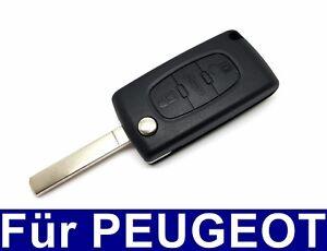 3Tasten Ersatz Auto Klappschlüssel Gehäuse für PEUGEOT 207 407 208 307 308