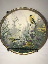"""Lenox """"Golden Splendor"""" Nature's Collage Bird Plate by Catherine McClung 1992"""