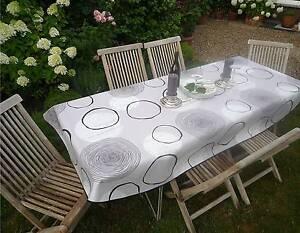Tablecloth Provence 150x240 CM Oval Light Grey France Easy-Care Non Iron