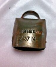 Antique Jungfraujoch Brass Souvenir Bell