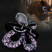 Women Crystal Hair Claw Alloy Rhinestone Grab Clip ClampHair Style Accessories