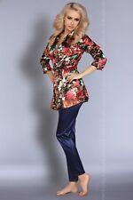 LIVCO CORSETTI Frida Luxury Soft Satin Robe and Matching Pyjama Bottoms Set