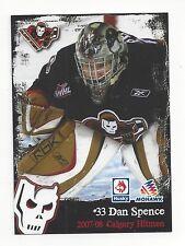 2007-08 Calgary Hitmen (WHL) Daniel Spence (goalie) (South Carolina Stingrays)
