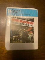 MUSIC MUSIC MUSIC THE GREAT ENTERTAINERS LIVE - 8 TRACK TAPE  - FREE S/H -(M1)