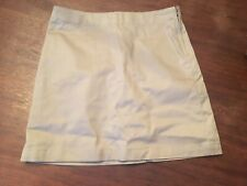 Lands' End Girls Sz 14 Ages 12/13 A-Line Khaki Skort Uniform Flat Front Zip Side