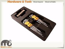 26pc Cr-V Hex Allen Key & Tamperproof Torx Star Key Extra Long Arms Set ABS Tray