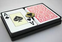 2 x COPAG PLAYING CARDS 100% Plastic JUMBO INDEX POKER