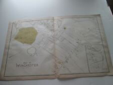 (1) One 1889 Antique Map-Massachusetts, Part Of Winchester; G. Walker