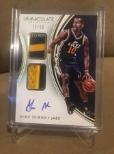 Alec Burks 2015 Immaculate Collections Autograph Jersey #/50 3 COLOR Patch Jazz