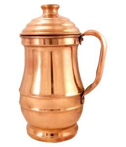 Kupfer Mahraja Wasser Krug 1.2 Liter Natürlich Ayurveda Vorteile Für Gesundheit