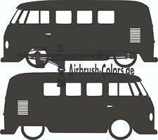 Aufkleber / Sticker VW-T1-Bus-Type-23-1960 Silhouette *Tuning*Stickerbomb
