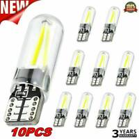 10X T10 194 168 W5W COB LED CANBUS Silica Bright License Light Bulbs Lamp DC 12V