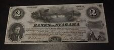 1860's 2 units Banks of Niagara, N.Y. advertising scrip- about unc