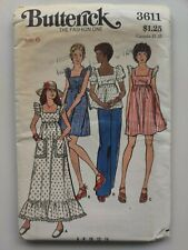 Vintage Uncut 1970s Butterick Sewing Pattern Dress and Top #3611 Sz 6