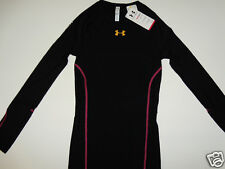 NWT Womens Under Armour Recharge Long Sleeve Black Compression Energy Shirt XL