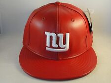 NFL New York Giants Reebok Fitted Hat Cap Size 7 1/8 Leather Red