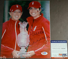 PAULA CREAMER Signed 8x10 Golf Photo Trophy Cup Auto PSA/DNA Certified Autograph