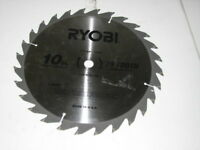 "10"" 28 tooth 5/8"" ryobi made in USA carbide tipped"