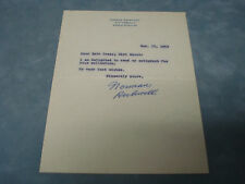 NORMAN ROCKWELL SIGNED LETTER C.O.A. #JPS4468