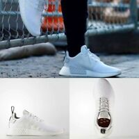 Adidas Unisex Original NMD R2 Runner White White Black BY9914 Size 4-11 Limited