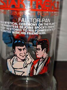 Vintage 1984 Star Trek III Fal-Tor-Pan Collectible Glass Taco Bell