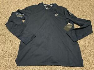 Nike Dallas Cowboys Sideline Coaches 1/2 Zip Pullover Men's Size 3XL NWT