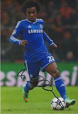 WILLIAN Signed Autograph 12x8 Photo AFTAL COA Chelsea Premier League RARE