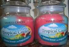 Yankee Candle Swirls Tropical Cooler  Lot of 2 NEW Medium Jars  FREE SHIP  VHTF