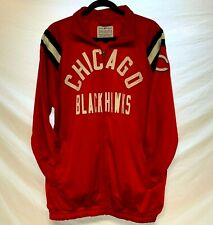 Chicago Blackhawks Athletic Jacket Lettered w/Applique Full Zip w/Pockets Sz Lg