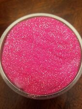 Soft pink glitter Fluffy Slime, No Borax Used  in an 4 OZ Container